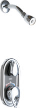 Chicago Faucets (2502-CP) TempShield Thermostatic Pressure Balancing Shower Valve with Shower Head