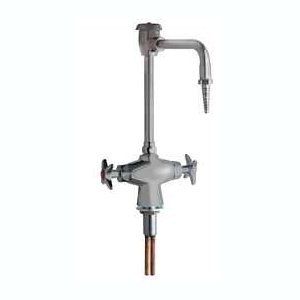 Chicago Faucets (930-VRSAM) Vandal Proof Hot and Cold Water Mixing Faucet with Vacuum Breaker