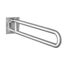 "Brey Krause (D-3410-01-SS) Grab Bar with Toilet Paper Holder - Swing Up Bar, 1¼"" Diameter, 30"" Length, Satin Stainless Finish"