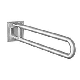 "Brey Krause (D-3410-01-SS) Grab Bar with Toilet Paper Holder - Swing Up Bar, 1¼"" Diameter, 30"" Length, Satin Stainless Finish"