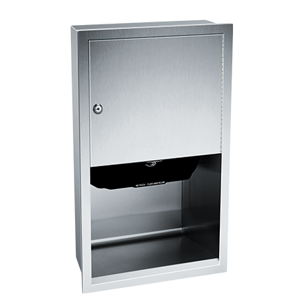 ASI (10-045210AC) Automatic Roll Paper Towel Dispenser, 1(10-240VAC-Recessed