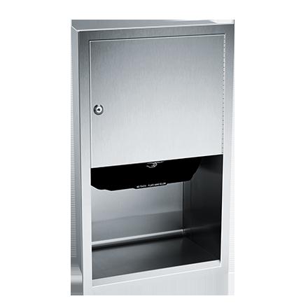 ASI (10-045210AC) Automatic Roll Paper Towel Dispenser, 1(10-240VAC-Recessed