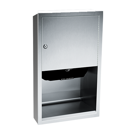 ASI (10-045210AC-9) Automatic Roll Paper Towel Dispenser, 1(10-240VAC-Surfaced Mtd.