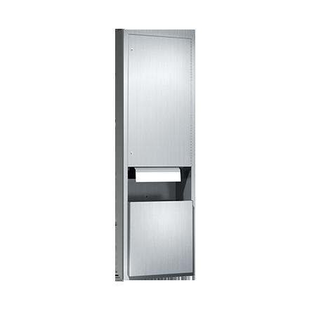 ASI (10-046921AC-6) Semi-Recessed, Dual Roll Paper Towel Dispenser and Disposal, 1(10-240VAC