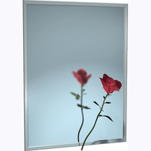"""ASI (10-0620-4416) Mirror - Stainless Steel, Chan-Lok Frame - Plate Glass -  44""""W X 16""""H"""