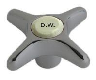 """Chicago Faucets (204-DWJKSAM) Vandal Proof 2-1/2"""" Cross Handle, Eight-Point Tapered Broach"""