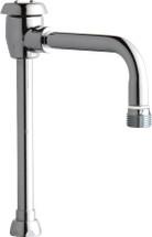 "Chicago Faucets (GN2BVBE2-2JKCP)  6"" Rigid / Swing Gooseneck Spout with Atmospheric Vacuum Breaker"