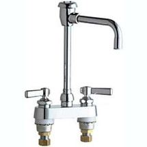 Chicago Faucets (895-GN8BVBE2-2CP) Hot and Cold Water Sink Faucet