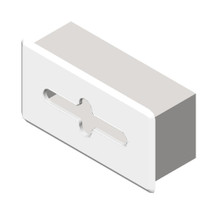ASI (10-02594-B) Recessed Facial Tissue Dispenser - Bright Polished