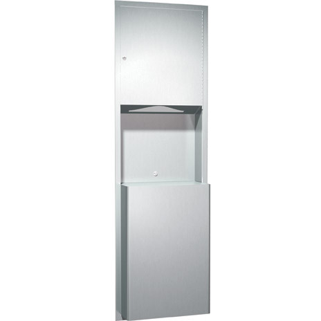 ASI (10-0469) Recessed Paper Towel Dispenser & Waste Receptacle