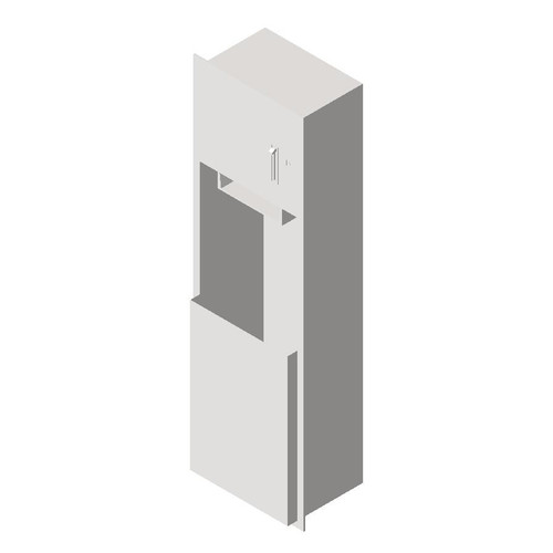 ASI (10-04692) Recessed Roll Paper Towel Dispenser and Waste Receptacle