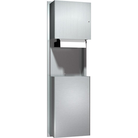 ASI (10-046924A) Recess Mounted Automatic Roll Paper Towel Dispenser and Waste Receptacle