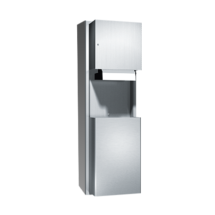 ASI (10-046924AC-9) Surface Mounted Automatic Roll Paper Towel Dispenser and Waste Receptacle, 1(10-240VAC