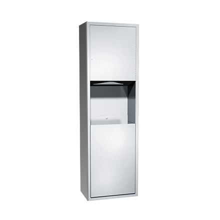 ASI (10-04697-9) Surface Mounted Paper Towel Dispenser and Waste Receptacle