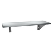 "ASI (10-0692-624) Surface Mounted Shelf 6"" X 24"" Stainless Steel"