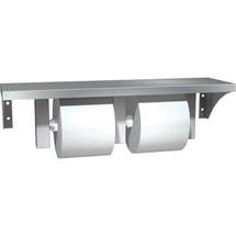 ASI (10-0697-GAL) Surface Mounted Shelf & Dual Toilet Paper Holder