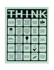 THINK Test-Taking Bingo