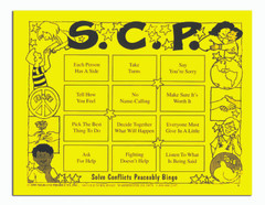 Solve Conflicts Peaceably (SCP) Bingo