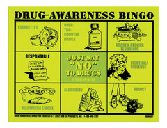 Drug Awareness Bingo for Grades 3-5