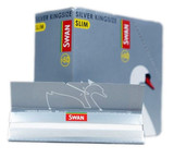 Swan Silver King Size Ultra Slim Rolling Papers - Box of 50