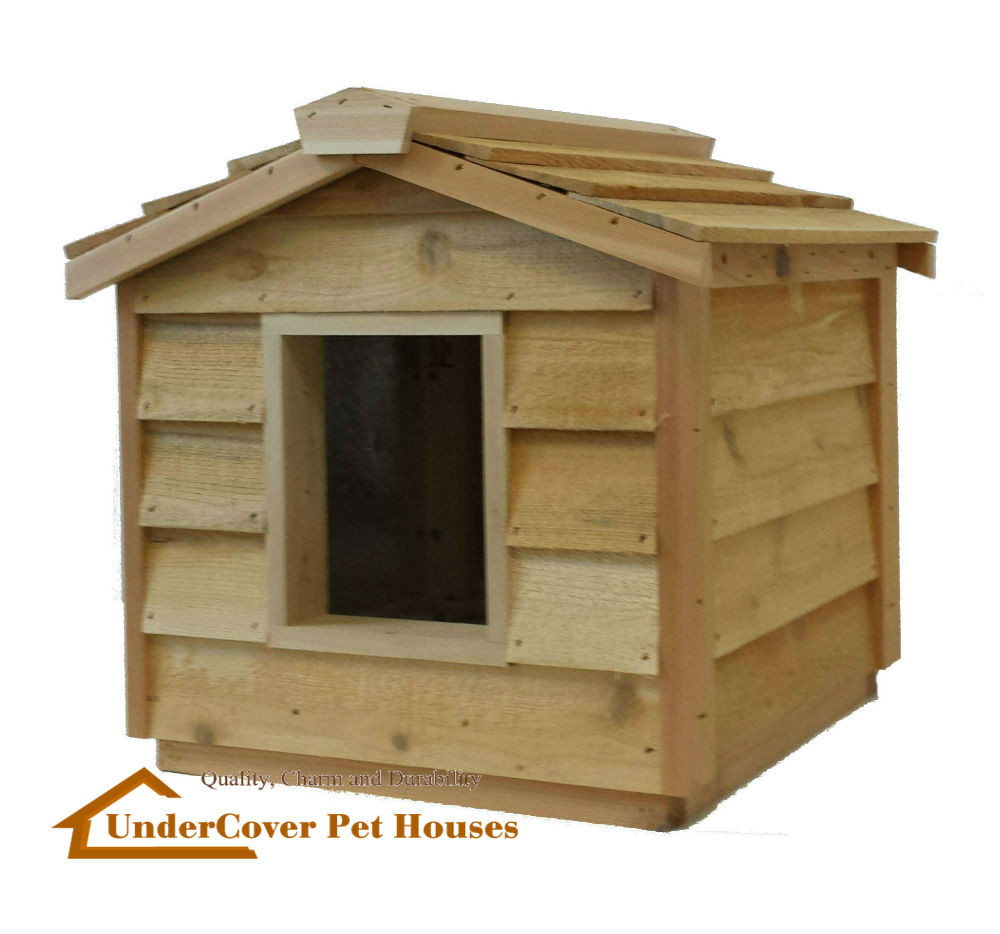 Small Insulated Cedar Cat House The Best Cat Houses For