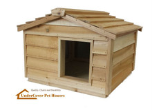 Large Insulated Cedar Cat House - Small Dog House