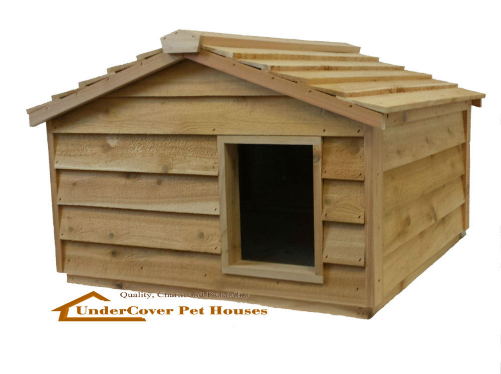 Extra Large Insulated Cedar Cat House Small Dog House
