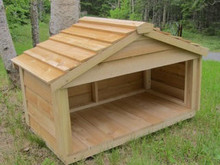Small Feeding Station - matches our outdoor cedar cat houses!