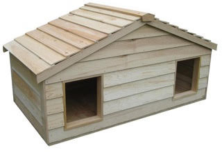large duplex cat house - the best outdoor house for multiple cats and feral cats