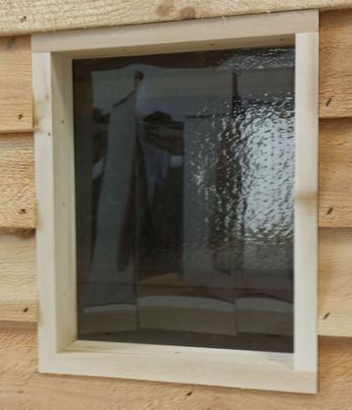 Vinyl Door Flap - installed  for our outdoor cat houses!