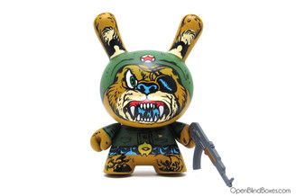 Super Soldier Bear Mishka Dunny Lamour Supreme Kidrobot Front