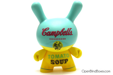 Yellow Campbell's Soup Can Dunny Andy Warhol 2 Kidrobot Front