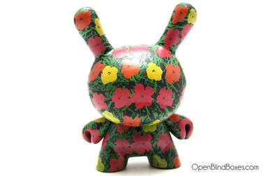 Flower Pattern Andy Warhol 2 Dunny Kidrobot Front