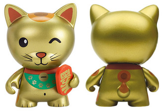Gold Lucky Cat Tricky Cats