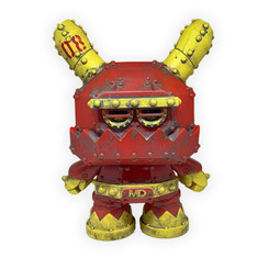 "8"" Red Stealth Mecha Dunny by Frank Kozik"