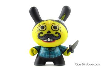 Saner Sicario Yellow Azteca 2 Dunny Kidrobot Front
