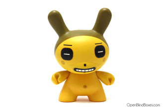 Dalek Yellow Square Eyes Dunny Front