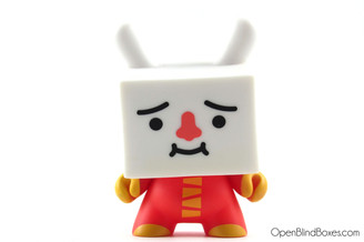 Devilrobots Tofu Red 2009 Dunny Kidrobot Front