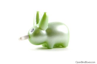 Shiny Green Happy Labbit Frank Kozik Kidrobot Left