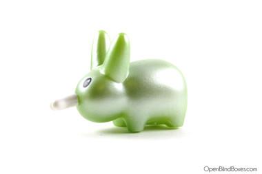 Shiny Green Happy Labbit Frank Kozik Kidrobot Left