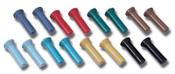 TRI-5 Chevy owners don't have to settle for cheap auto parts store replacement door lock knobs! These reproductions available in the original colors and style. Made in the USA.     Colors: Black/Dark Blue/Red/Sierra Gold/Yellow/Turquoise/Green/Light Blue -SPECIFY-