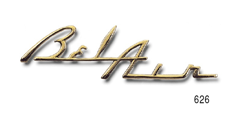 1955 1956 Chevy Bel Air Gold Dash Script Best Southern Classic