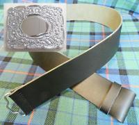Drummer/'s Cross Belt White Thistle Buckle R807