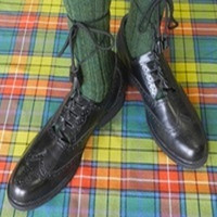 Ghillie Brogues (Simulated Black Leather w/ Rubber Sole)