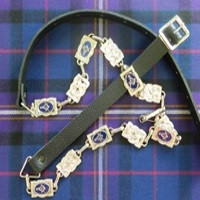 Masonic Chrome Sporran Strap