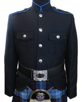 Class A Honor Guard Kilt Jacket (Black/Blue)