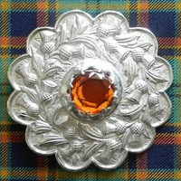 Scots Guards Plaid Brooch