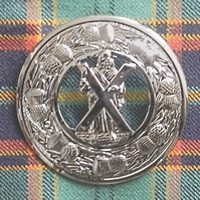 St. Andrew Plaid Brooch