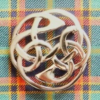 Plaid Brooch