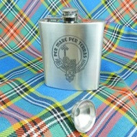 Clan Crest Hip Flask